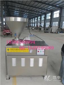 供应科盛304不锈钢立式灌肠机 气动定量扭结灌肠机