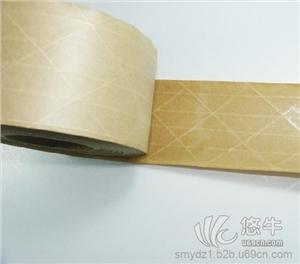 供应夹线牛皮纸胶带 夹纤维湿水胶