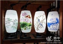 手绘陶瓷灯罩陶瓷灯具陶瓷台灯灯罩