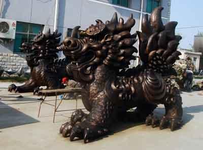 玻璃钢彩绘动物雕塑价格