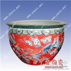 供应玉中鑫陶瓷齐全可定制陶瓷工艺品 陶瓷花盆批发 金鱼缸
