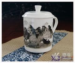 供应逸德陶瓷0001陶瓷杯子 会议陶瓷茶杯 订制杯子