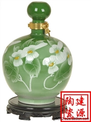 手绘现代工艺陶瓷酒瓶 厂家促销