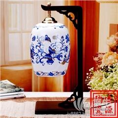 供应酒店装饰陶瓷台灯卧室陶瓷灯具