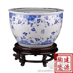供应陶瓷大缸 青花手绘陶瓷大缸