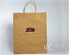 供应三喜环保纸袋水果纸袋本色牛皮手提纸袋