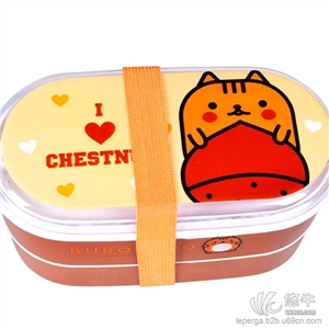 供应乐百家 L02971可爱卡通便携式儿童饭盒学生便当盒