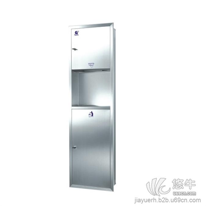 不锈钢二合一擦手纸柜