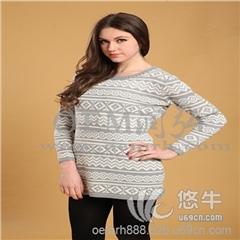 供应腈纶针织毛衣加工民族风显瘦针织衫