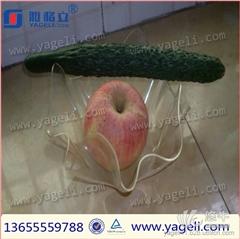 供应雅格立有机玻璃水果托盘  多款式多规格