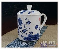 供应陶瓷马克杯定做 景德镇瓷厂出场杯子陶瓷茶杯青花瓷茶杯