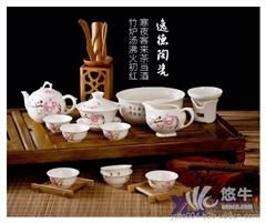促销陶瓷茶具 高档陶瓷茶具批发