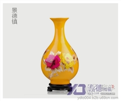 高档礼品陶瓷大花瓶 商务礼品陶瓷