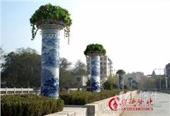 供应安德陶瓷adcy007景德镇定做陶瓷灯柱厂家