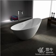 供��酷石�l浴BS-S88人造石浴缸