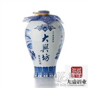 供应九盛大兴坊原浆老酒2.8L青花瓷坛礼品酒