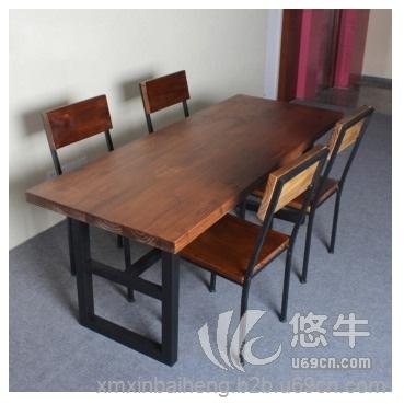 铁艺实木餐桌电脑桌办公桌椅价格