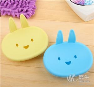 供应店促销礼品卡通MOMO小兔香皂盒笑脸双层