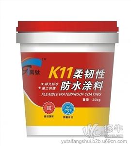 供应禹泰防水K11柔韧性屋面防水涂料