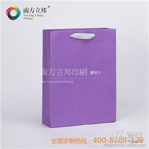 供应南方立邦见详情精致淡紫色彩卡手提袋