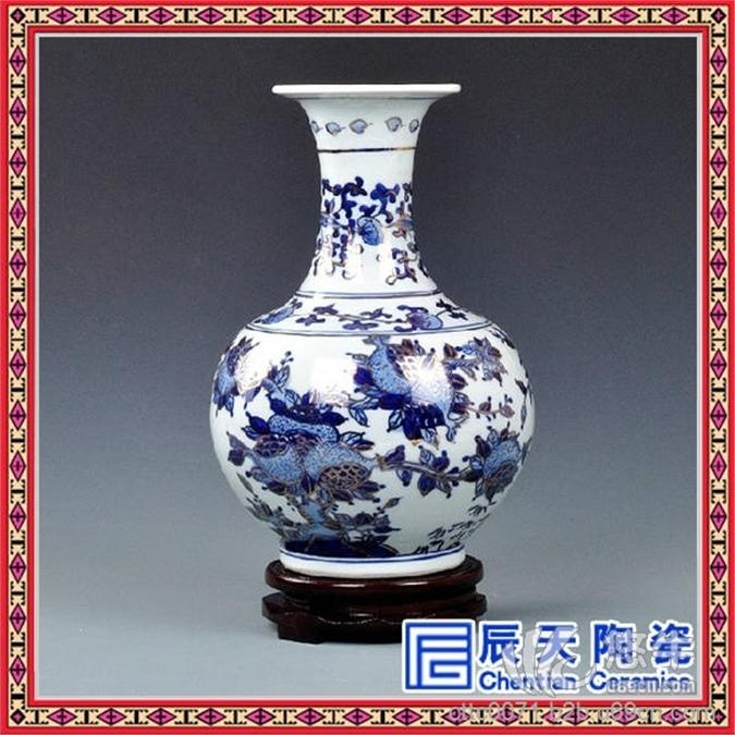 中国风家居摆饰青花瓷陶瓷大花瓶