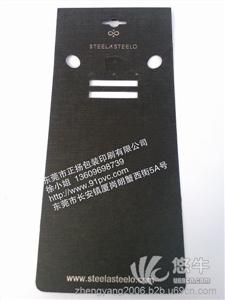 东莞厂供应可定制黑色PVC项链卡