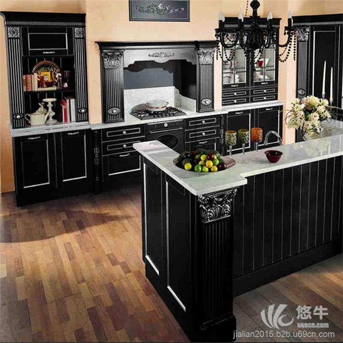 加利安中岛形厨房厨柜整体橱柜定做价格