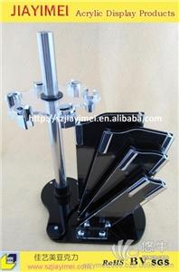 供应供有机玻璃厨房刀具展示架 5寸亚克力刀具展示架 6寸刀具展示架无亚克力刀架