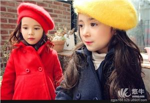 供应中国品尚网3641冬款广东女童大衣批发 欧美呢子大