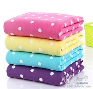 纯棉彩点纱布浴巾