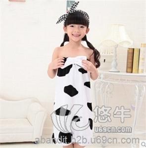 爆款儿童浴袍 可爱女童浴巾