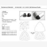 供应美沃工业铝型材MV-三维连接件
